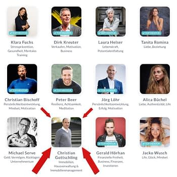Christian Gottschling ist TOP 10 Mentor bei Upspeak